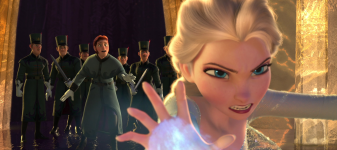 Elsa battles guards Anger