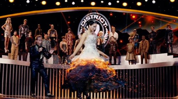 Katniss burns wedding dress 1